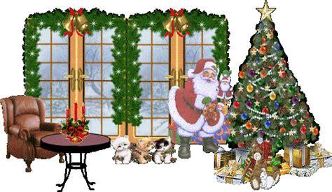 are papa noel trees good tree and santa animated gif papa noel baba renkli duvar