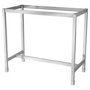 Ikea Bar Table Utby Underframe Stainless Steel Furniture Wood Furniture And Tables