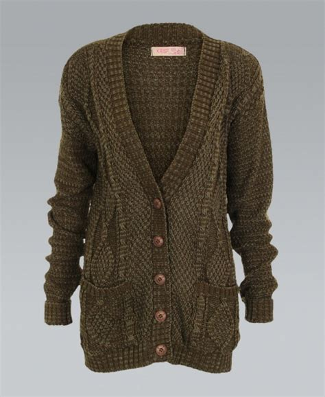 cable knit button cardigan krisp chunky cable knit button khaki cardigan krisp