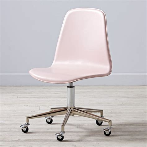 pink desk chair pink silver class act desk chair the land of nod