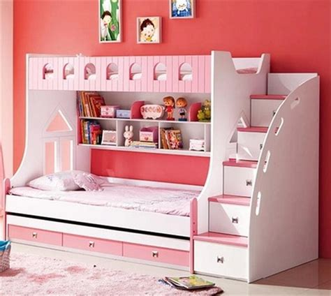 Bookcase Pine Young Childrens Furniture Children Bed Height Up And Down