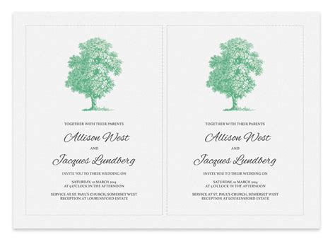 printable wedding invitations tree printable wedding invitation tree invitation templates