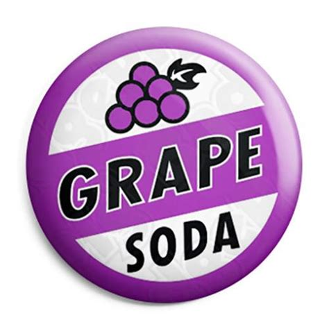 Grape Soda   Ellie's Up Movie Bottle Top Button Badge