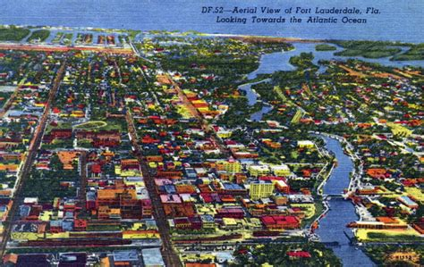 Fort Lauderdale Court Records Florida Memory Aerial View Of Fort Lauderdale Looking Towards The Atlantic