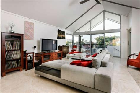 rote stühle esszimmer wohnzimmer gardinen design