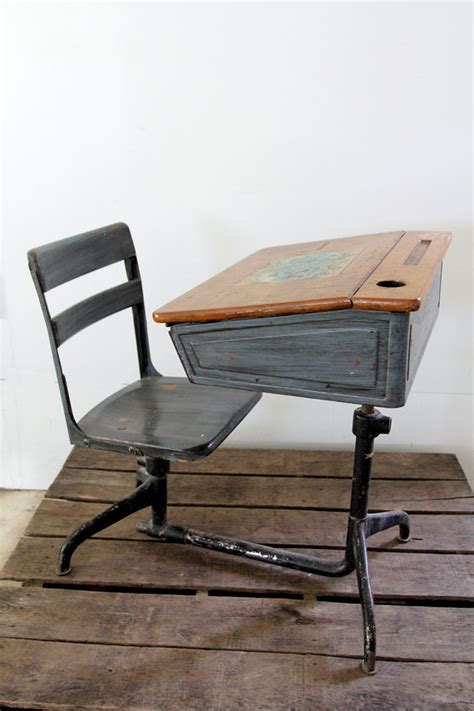 vintage school desk children s desk the cottage