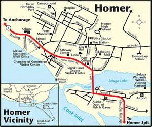 Map Of Homer Alaska by Homer Alaska Fishing Guide Hotel Information