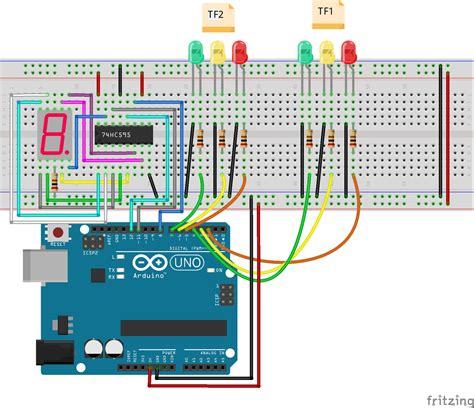 4 way traffic light arduino arduino lesson traffic light controller 171 osoyoo com