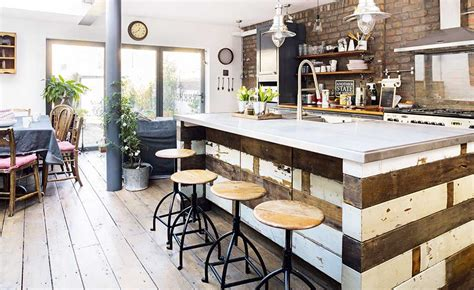 industrial style kitchen island industrial style renovation of a victorian terraced home real homes