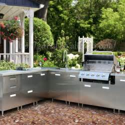 Outdoor Kitchen Cabinets Stainless Steel by Modern Stainless Steel Outdoor Kitchen Cabinet Outdoor