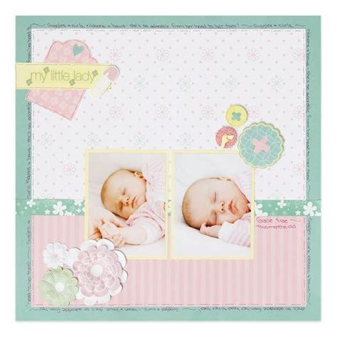 scrapbook layout ideas for baby girl fabulous baby girl scrapbook layout baby scrapbook