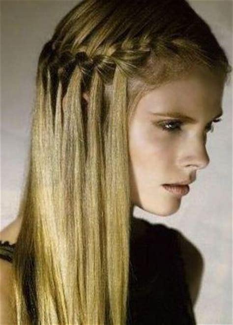 media trenza francesa con cabello suelto   trenzas