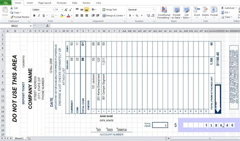 checking deposit slip template bank deposit slip template excel excel tmp