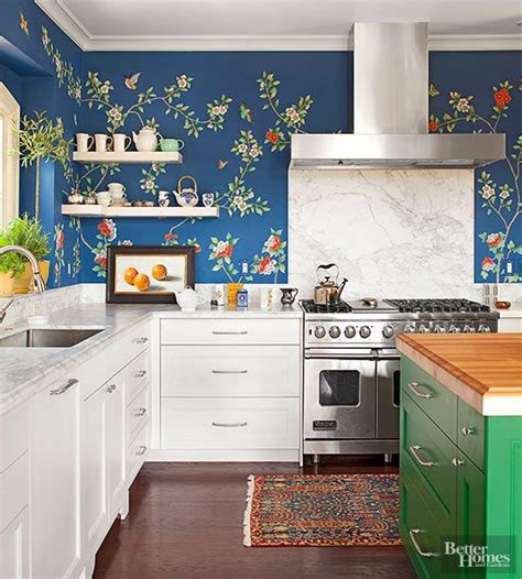 wallpaper in kitchen ideas 25 best ideas about kitchen wallpaper on