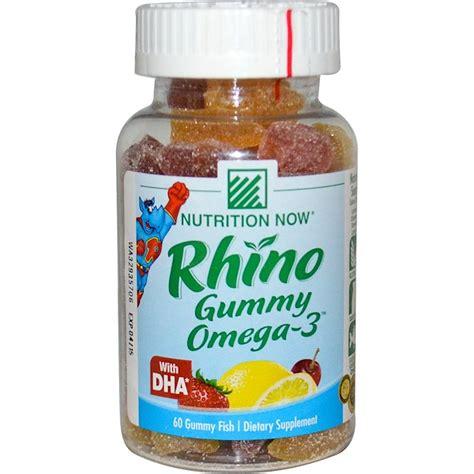 Gummy 60s 10s nutrition now rhino gummy omega 3 with dha 60 gummy fish iherb