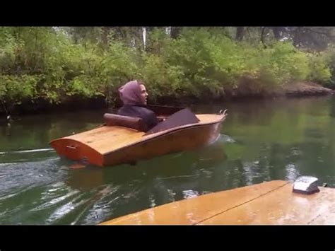 plywood mini boat electric inboard cruise rain youtube