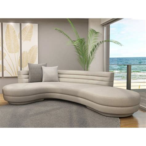 curved contemporary sofa extraordinary curved sectional sofa canada 4808