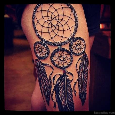 heart dreamcatcher tattoo 78 graceful dreamcatcher tattoos on thigh