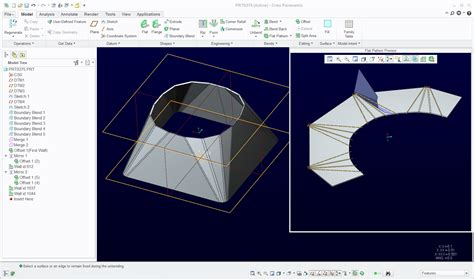 creo flat pattern on drawing solved part to unbend ptc user community