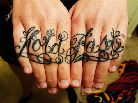 tattoo meaning hold fast lovely knuckle hold fast tattoo