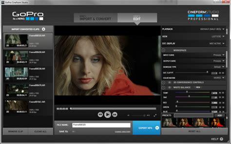 format audio gopro studio gopro s cineform codec is now an industry standard
