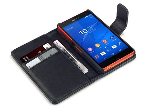 Sony Xperia Z3 Mini Z5 Compact Casing Leather Flip Cover Wallet caseboutique leather wallet sony xperia z3 compact hoesje