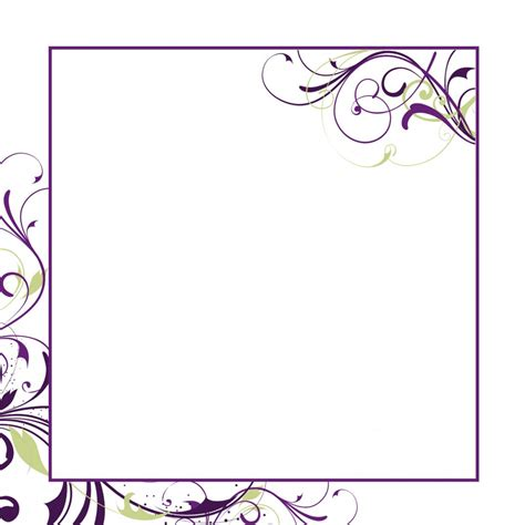free printable invitation border templates blank wedding card sles blank wedding invitation