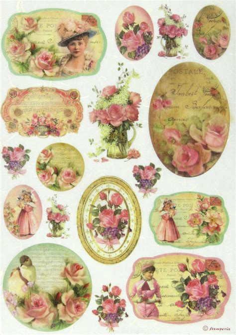 Decoupage Printables - rice paper for decoupage scrapbook sheet craft paper