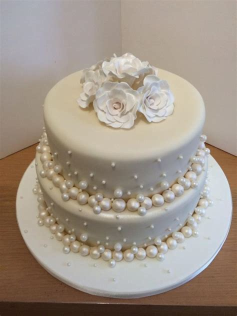 pearl anniversary cake   Cake by Danielle   CakesDecor
