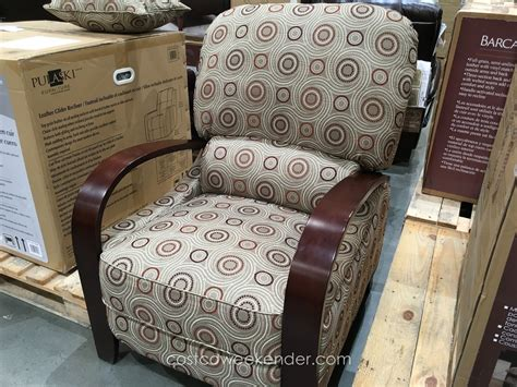 synergy home furnishings wood arm recliner chair costco