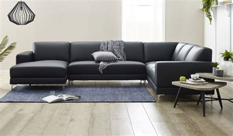 corner sofa with chaise lounge berkeley leather corner lounge focus on furniture