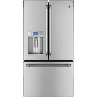 home depot counter depth door refrigerator ge cafe 23 1 cu ft door refrigerator in stainless