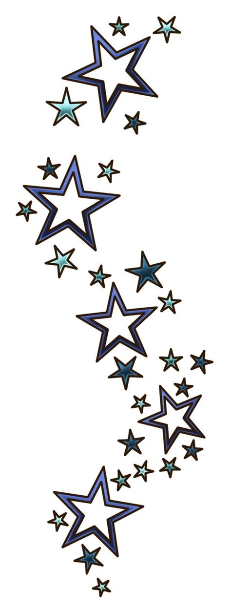 shaded star tattoo designs collection of 25 designs
