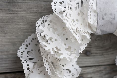 Paper Doily Crafts - studio 5 wispy winter wreath