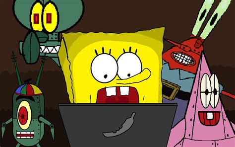 spongebob at spongebob five nights at krusty krab
