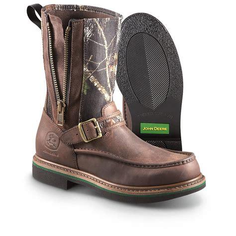mens zipped wellington boots s deere 174 side zip wellington boots mossy oak
