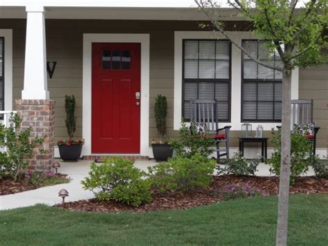 red door on house orange brick house what color door ask home design
