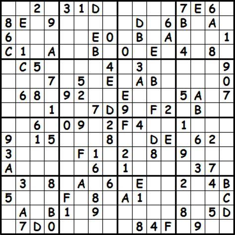 printable sudoku 16x16 numbers printable sudoku puzzles october 2012