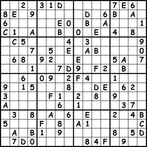 sudoku puzzle types