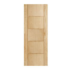 wickes doors wickes thame oak veneer door 5 panel 1981x762mm