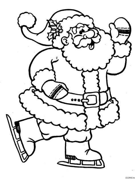 free coloring pictures of santa claus free santa claus coloring pages