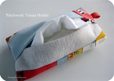 tissue pouch craft tutorial patchwork tissue pouch