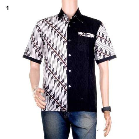 Kemeja Hem Batik Pria Cowo Baru Katun Motif Sinaran 2 Pekalongan jual baju batik pria kemeja batik hem batik kombinasi prakarsa bisa seragam di lapak jogja