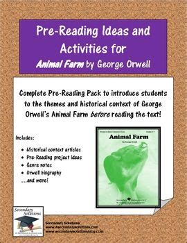 george orwell biography with questions animal farm standards focus activity pack activities