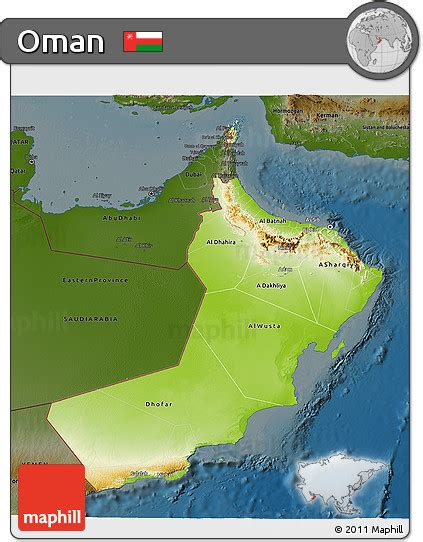 physical map of oman free physical 3d map of oman darken