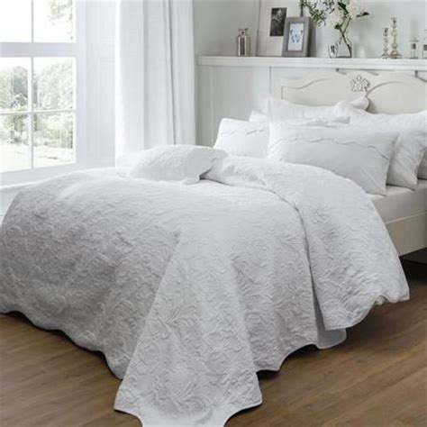 Dorma Quilted Bedspreads by Dorma White Provence Collection Bedspread Dunelm 163 115 Vintage Glam Bedroom
