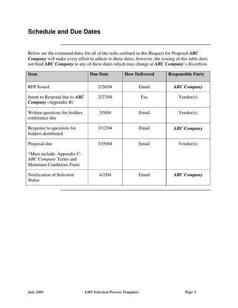 Lms Selection Templates Call Center Rfp Template