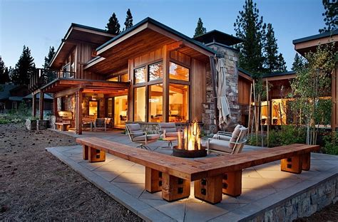 rustic contemporary homes mountain home by ryan group architects homeadore