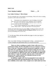 Grammar QUiz #2 Pronouns and Antecedents Version B