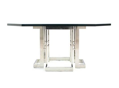 Chrome Coffee Table Base Square Chrome Base Glass Top Coffee Table For Sale At 1stdibs